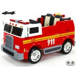 Dvojmiestný hasičský bus 4x4 s 2,4 G DO, megafónom, sirénou, majákom, USB, MP3, voltmetrom, EVA kolesami