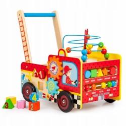 Edukačné drevené chodítko Eco Toys - Hasič