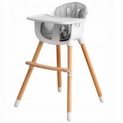 Drevená jedálenská stolička 2v1 Eco Toys