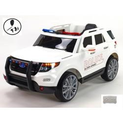 Džíp USA policie s 2.4G DO, megafónom, policajným osvetlením, EVA kolesá,otváracími dverami, pérovaním, FM, USB, SD, MP3,čierne