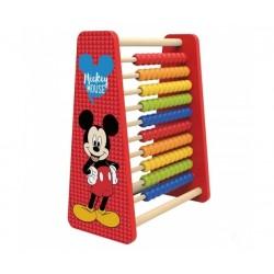 Krásne drevené detské Disney počítadlo Mickey