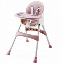 Eco toys Jedálenská stolička, stolček 2v1 - sivá
