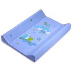 Podložka prebaľovacia DINO - tvrdá, s metrom, modrá 80 cm