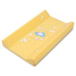 Podložka prebaľovacia DINO - tvrdá, s metrom, žltá 80 cm