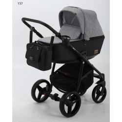 Kombinovaný kočík Adamex Reggio 2v1 - Sivá/Čierna 2019