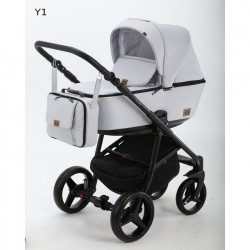 Kombinovaný kočík Adamex Reggio 2v1 - Biela 2019