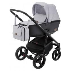 Kombinovaný kočík Adamex Reggio Premium - Svetlosivá/Čierna Y58