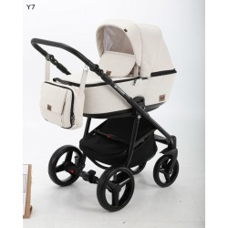 Kombinovaný kočík Adamex Reggio 3v1 - Biela 2019 Y1