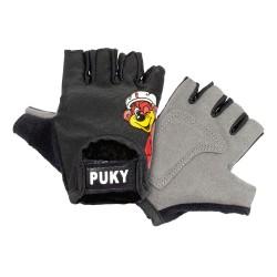Detské cyklistické rukavice Puky S - čierne