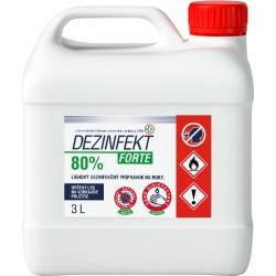 Dezinfekt Forte 3,0 l Liehový dezinfekčný prípravok na ruky