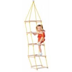 Detský šplhací rebrík s drevenými priečkami