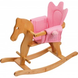 Small Foot Drevený hojdací koník s kresielkom