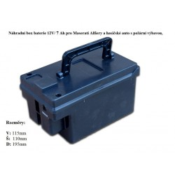 Box s batériou pre Maserati a hasičské auto s výbavou