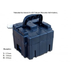 Box s batériou pre Mercedes G63 6-kolesový