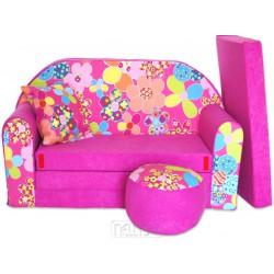 Rozkladacia sedačka Kvetinka