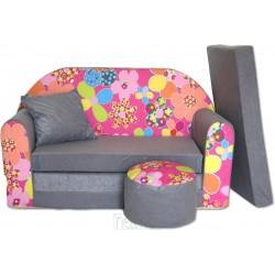 Rozkladacia sedačka Kvetinka ružová