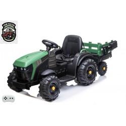 Elektrický traktor Farmársky s vlekom a lopatou