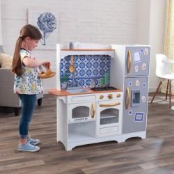 Drevená kuchynka KidKraft   Mosaic s magnetickou ladničkou