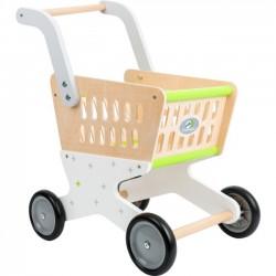 Detský drevený nákupný vozík Trend