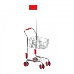 Detský Nákupný vozík strieborný