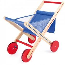 Detský drevený nákupný vozík skladací