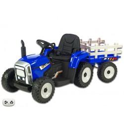 Elektrický traktor s vlečkou