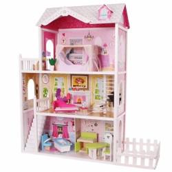 Drevený domček pre bábiky so zahradou - Rezidencie California