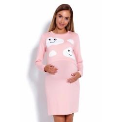 Be MaaMaa Tehotenská, dojčiaca nočná košeľa Mráčky