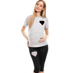 Be MaaMaa Tehotenské, dojčiace 3/4 pyžamo - srdce