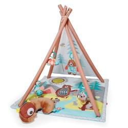 Deka na hranie 4 hračky, vankúšik Camping Cubs 0m+