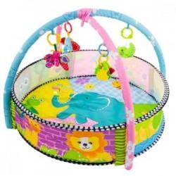 Hracia podložka 3v1, bazén s loptičkami, ZOO