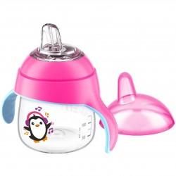 Kúzelný hrnček Avent Pingu 200 ml ružový