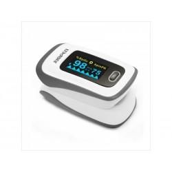 JUMPER JPD-500F pulzný oximeter s obrazovkou OLED a Bluetooth, šedý