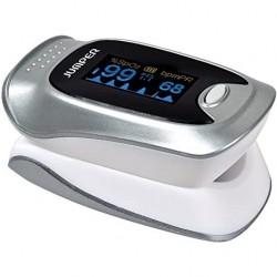 JUMPER JPD-500F pulzný oximeter s obrazovkou OLED a Bluetooth, strieborný