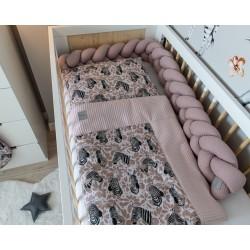 Súprava do kočíka, kolísky, hniezdočka -Velvet, 3v1, bavlna LUX