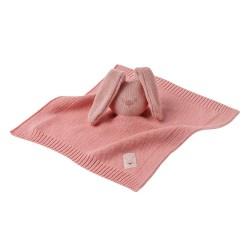 Hračka maznáčik pletený bavlnený Lapidou pink 32x32 cm