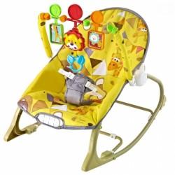 Lehátko, hojdačka pre dojčatá s vibrácií a hudbou Little savana