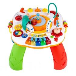 Hovoriaci a hrajúci interaktívný stolček  s jazdiacim vláčikom