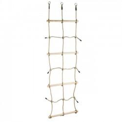 Šplhacia sieť s drevenými priečkami