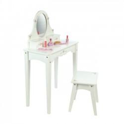 Drevený kozmetický stolček biely