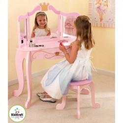 Drevený kozmetický stolček Princezná