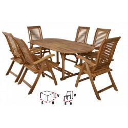 HECHT CAMBERET SET - Set záhradného nábytku