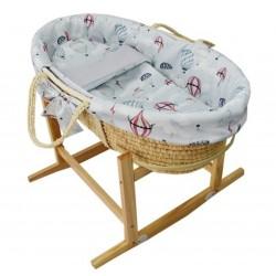 Kôš Mojžišov pre bábätko Natural so stojanom matrac + príslušenstvo Hydrangea