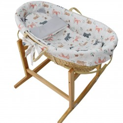 Kôš Mojžišov pre bábätko Natural so stojanom matrac + príslušenstvo Roe-Deer