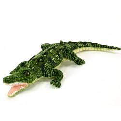 Plyšový krokodíl s otvorenou tlamou