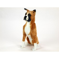 Plyšový pes boxer, výška 64 cm