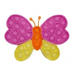 Práskajúce bubliny, silikonová antistresová hra Motýľ